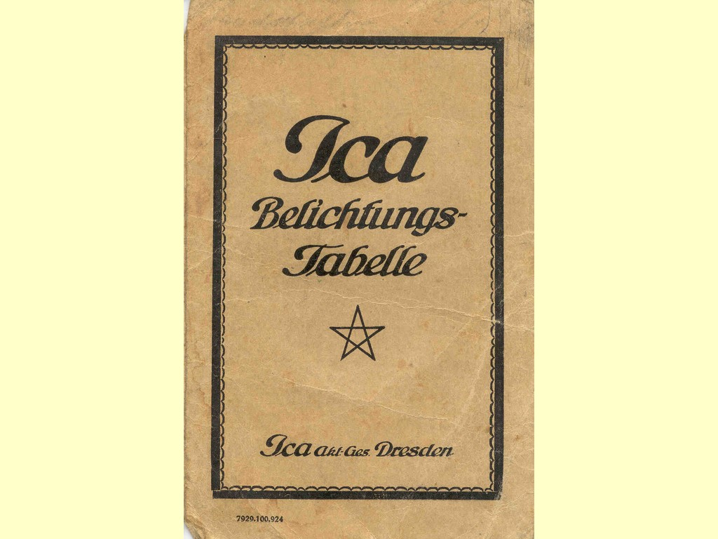 Ica Belichtungs-Tabelle  -  7929.100.924