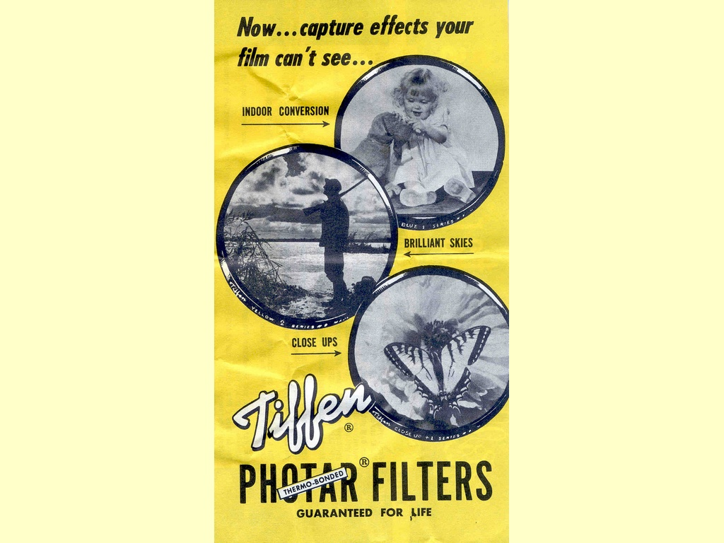 Tiffen Photar Filters  -  Form FI-4-56 Rev. 1957