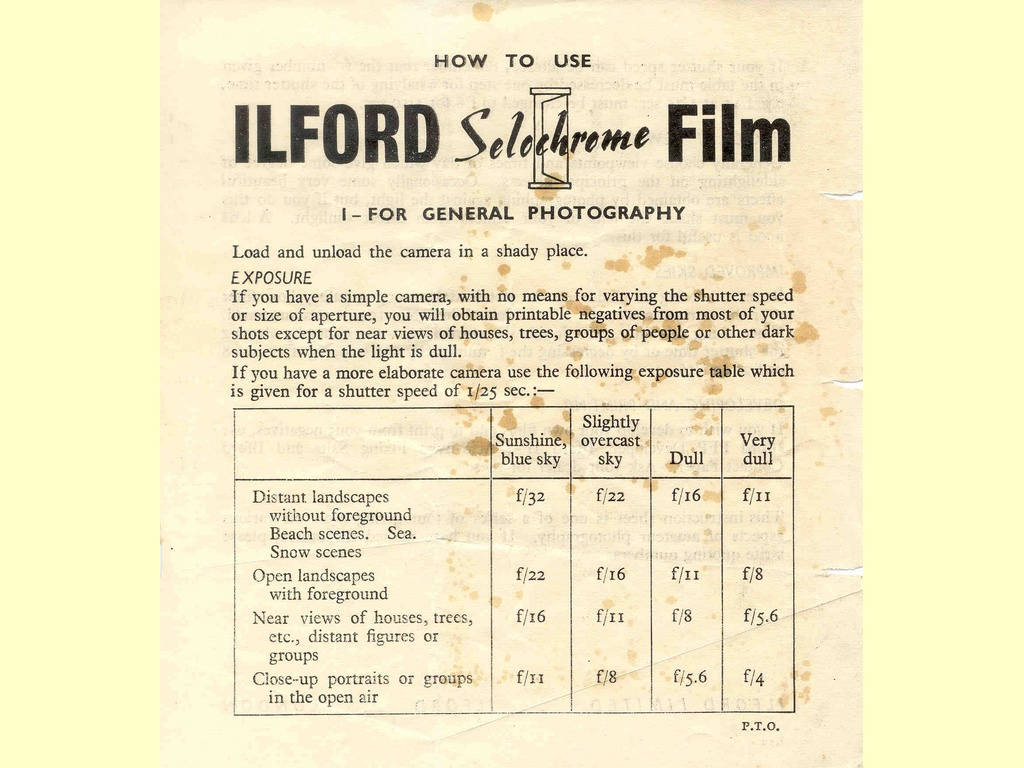 Ilford Selochrome Film  -  J.52