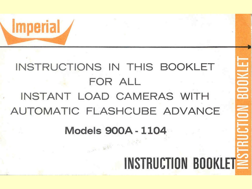 Instructions in this booklet ...  -  F-126