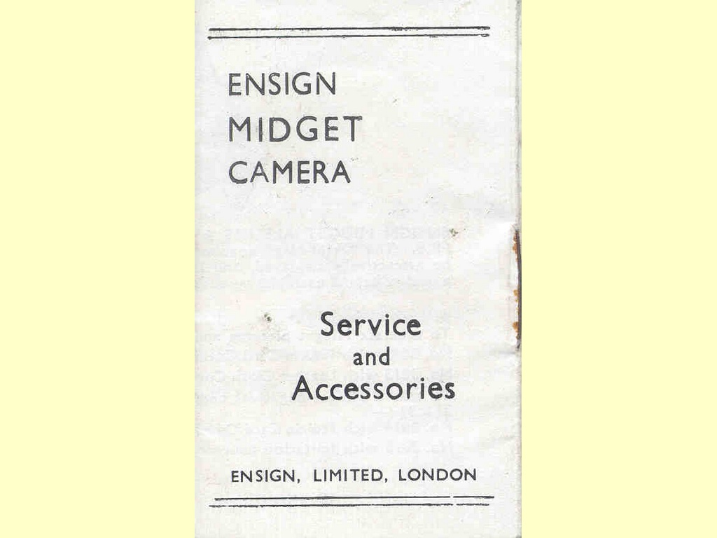 Ensign Midget Camera  -  FPP. 40m. 6/50.