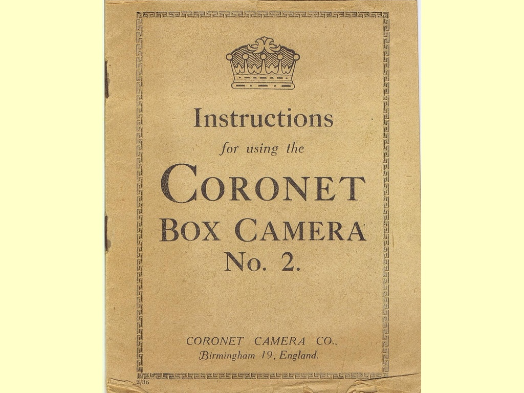 Instructions for using the Coronet Box Camera No. 2  -  2/36