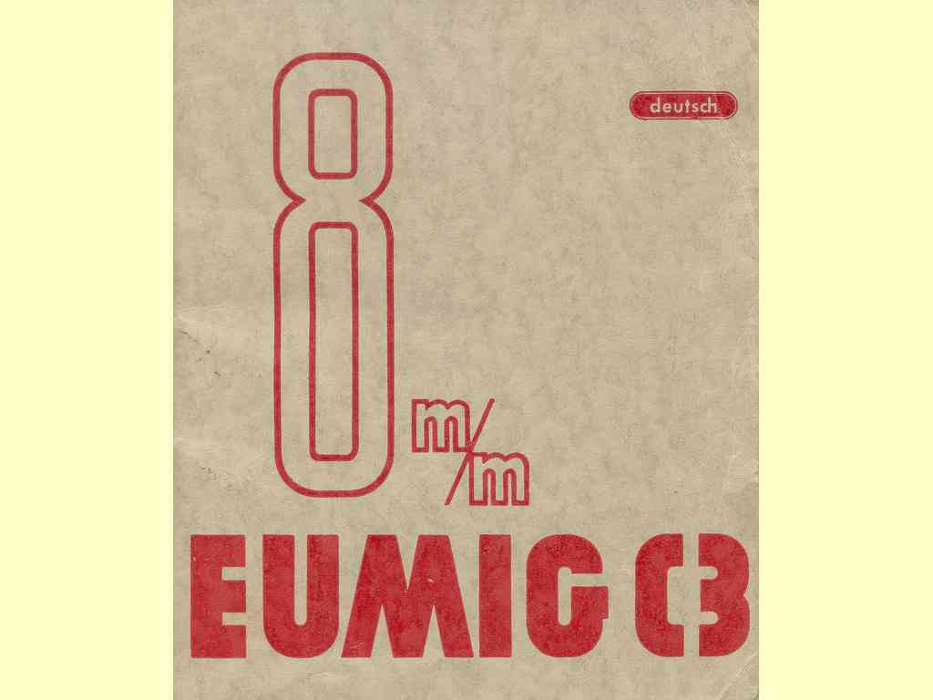 Eumig C3 8 mm  -  161 - 4 - 857 - K. & Co.