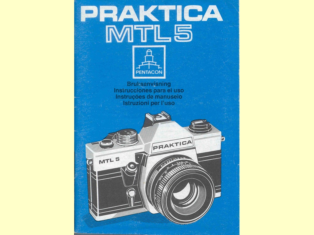 Praktica MTL5  -  Jt 603/85 III … 8004 Sv/Sp/Pt/It