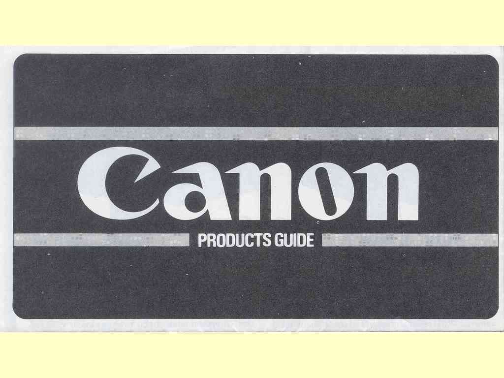 Canon Products Guide  -  PUB.C-CE-114T - 0980N144