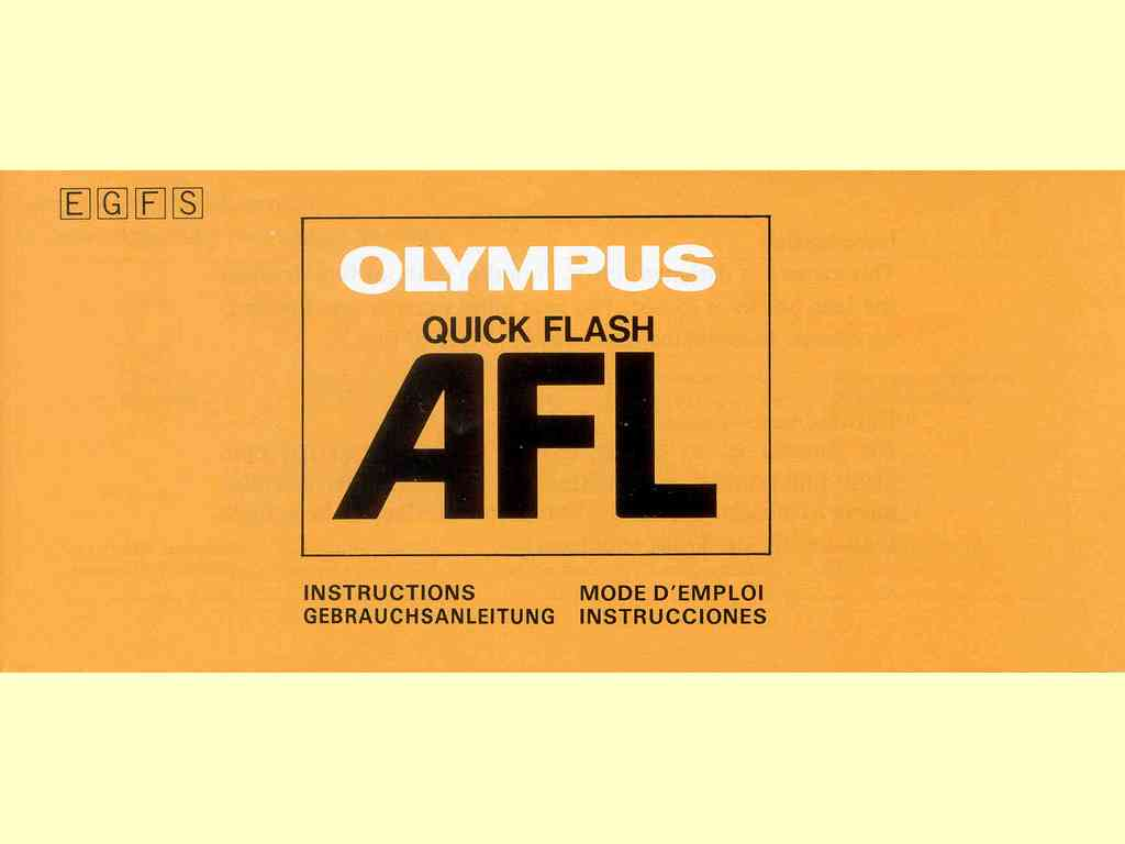 Olympus Quick Flash AFL  -  1183-25MS