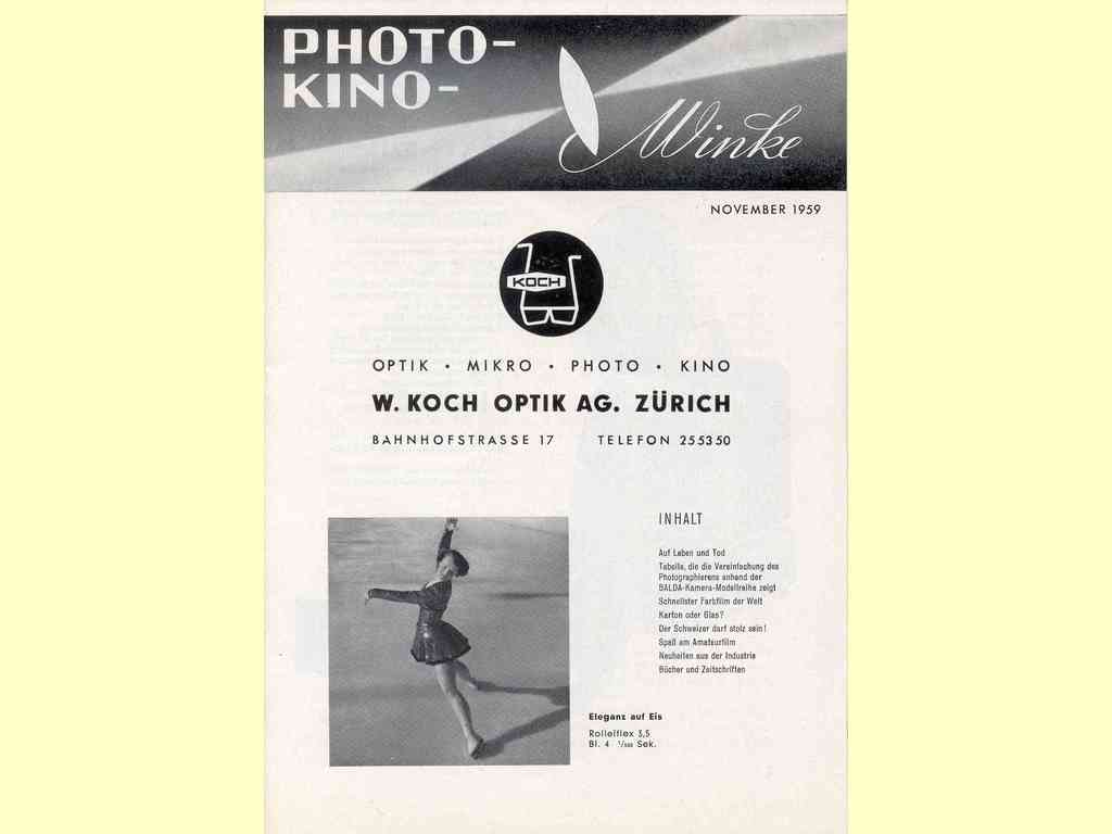 Photo Kino Winke  -  November 1959