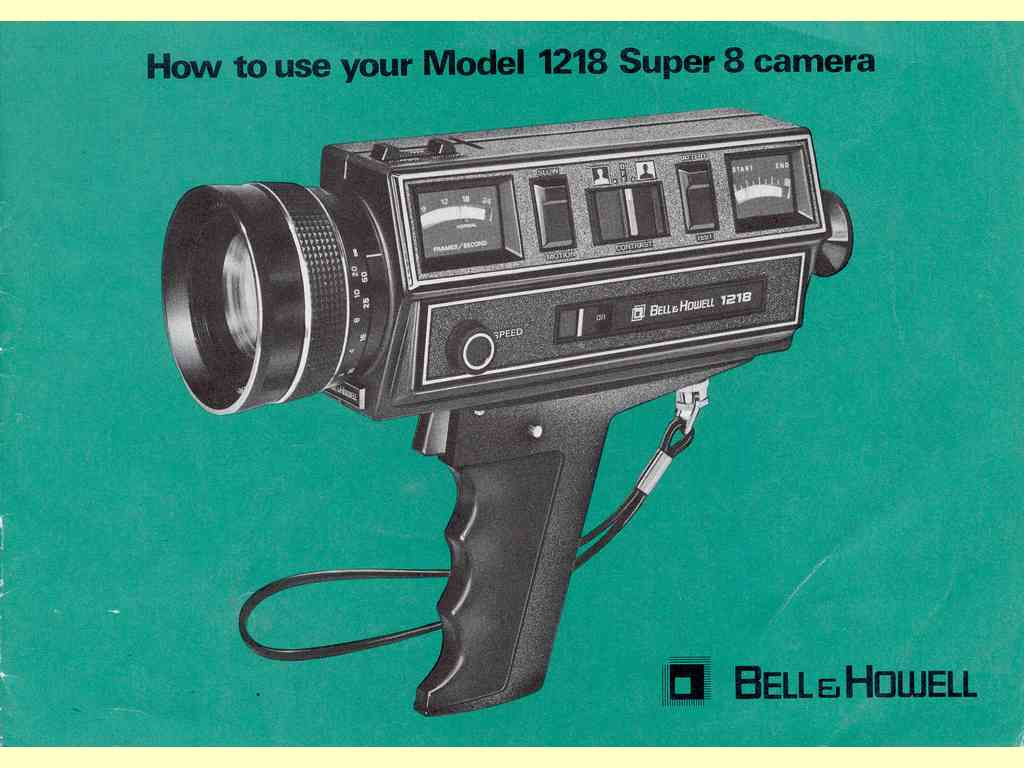 How to use your Model 1218 Super 8 camera  -  unbekannt