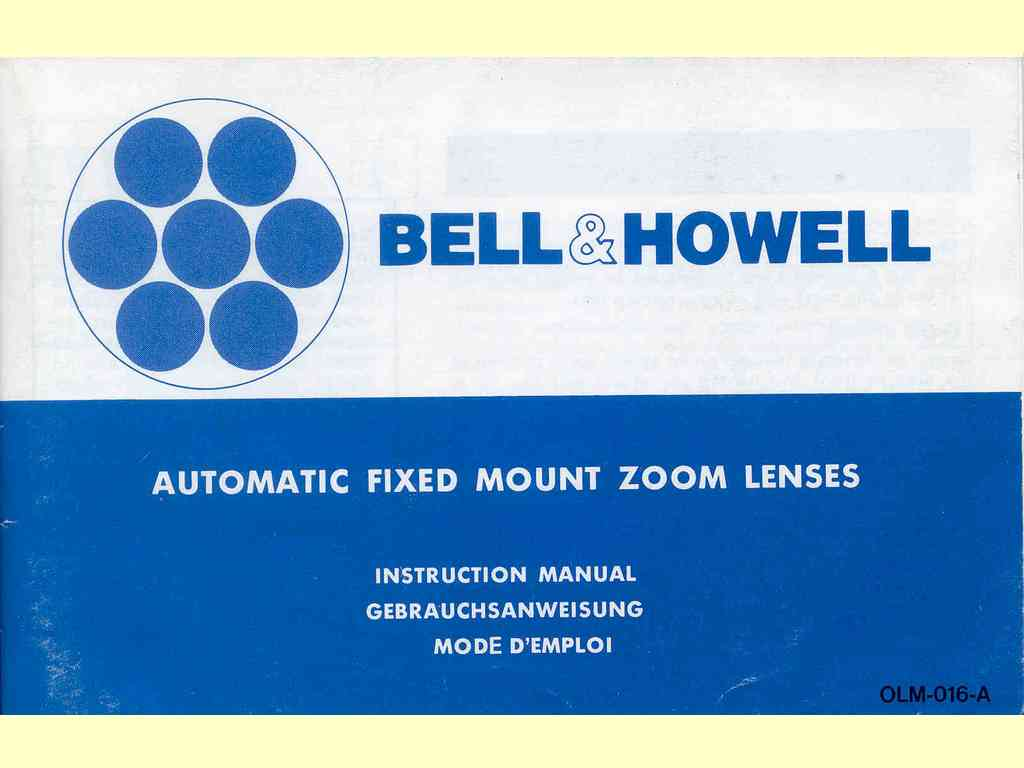 Automatic Fixed Mount Zoom Lenses  -  OLM-016-A