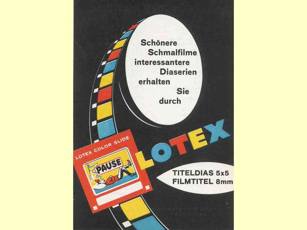 Lotex - Titeldias 5x5 - Filmtitel 8 mm  -  1962